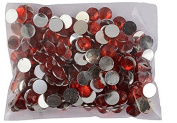 AM Round Red Kundan Stones Crystal Edged Pastable For Jewellery Decoration & Crafts !! Pack Of 400 Stones 6Mm Red