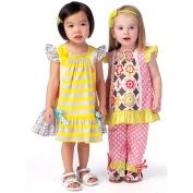 Toddler's Top, Dress and Pants, 1/2-1-2-3-4
