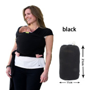 Loewi Ball Baby Warp,Baby Sling Carrier Comfortable Cotton Baby Carrier for Newborns,Black