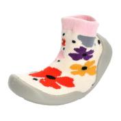 Honhui Cute Baby Girl Boy Soft knitting Flower Socks Shoes Floor Indoor School Sneakers (25