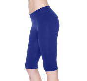 Seamless Basic Stretch Bike Shorts Knee Length Legging