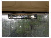 10L0L 42cm Extra Wide 180 degree Panoramic Rear View Mirror for Golf Carts EzGo Yamaha