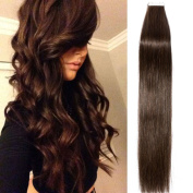 41cm - 60cm Tape in Hair Extensions Skin Weft Real Remy Human Hair Straight 20pcs 30g per pack