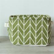 Yesido. Geometric Pattern Cloth Collection Basket Desktop Storage Basket