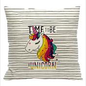 UNKE Throw Pillow Case Cotton Linen Cushion Cover 45cm 45cm for Home Decor,3#