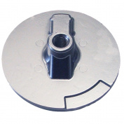 1 - Tecnoseal Trim Plate Anode - Zinc Flat Mercury Alpha f/Engines
