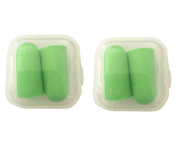 ReachTop Soft Foam Hearing Protection Earplugs( 2 package), green box-packed