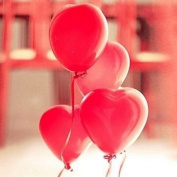 MD Group Latex Balloons 30cm Red Heart 100PCS Party Wedding Birthday Decoration