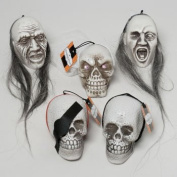 5 Hanging Centrepiece Skulls With Assorted Appearances! Perfect for Your Next Halloween Gathering!