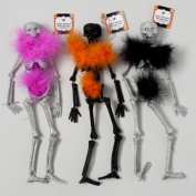 Set of 6 Hanging Skeletons With Bendable Movable Limbs! Perfect for Your Next Halloween Gathering!
