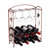THEE Creative Foldable Wine Cups Glasses Hanging Rack Antique Brass