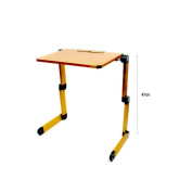 foldable computer table notebook aluminium alloy table , yellow
