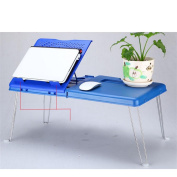 Foldable notebook computer table blue , blue