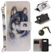 'PU Galaxy S8 + S8 Plus (6.2) Animals Landscape Hard Case Cover for Samsung Galaxy S8 + S8 Plus Mobile Phone Case Wallet Book Type PU Leather and TPU Inner Case Colourful Painting Magnetic Closure Leather Case Cover + Anti Dust Plug