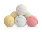 Bath Bombs Gift Set - 6 x 100g Fizzies with Essential Oils - UK Made Natural Aromatherapy Spa Gifts Set by Moksha Beauty