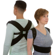 Back-Up - Most Effective and Comfortable Posture Corrector for Thoracic Kyphosis, Clavicle and Shoulder Brace, Lumbar Support, Lower and Upper Back Pain Relief - Fully Adjustable for Men and Women
