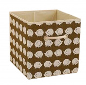 Gaorui Fabric Storage Cubes Foldable Cotton Linen Storage Boxes With Handle Home Office Desk Basket 27x27x28cm