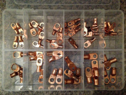 Copper Lug Terminal Assortment Kit - Pack of 54 by A Plus Parts House