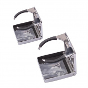 M-ARINE BABY 2PCS Stainless Steel Adjustable Folding Cup Drink Holders Marine/boat/caravan/car
