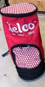 Nelco Discus throws bag kit holds 3 discus RED N3DBR