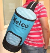 Nelco Discus throws bag kit holds 3 discus Baby BLUE N3DBB