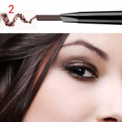 Lotus.flower Waterproof Automatic Rotation Eyebrow Pencil With Brush Makeup Cosmetic Tool