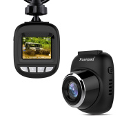 Xuanpad S3 Mini Dash Cam, Full HD 1080P Car Camera with 168° Wide Angle, G-sensor, Loop Recording, Motion Detection, Park Monitor