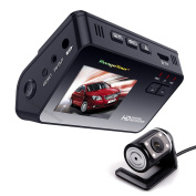GutReise Dash Cam Dashboard Dual Camera Recorder with HD 1080P 720P VGA,170°Wide Angle Lens, 5.1cm LCD Screen, Rear view Camera