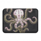 "The Pink Octopus Rectangular Doormat Non-slip Durable Diameter 40 X 60cm/15.7 X 23.6"""" Point Plastic Anti-slip Base Rug"