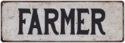 FARMER Vintage Look Rustic Metal Sign Shabby Chic Family Name 6186615