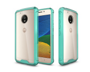 Moto G5 Case, [NOT FIT MOTO G5 PLUS] ARSUE Ultra Thin and Slim Hard Crystal Clear Transparent Scratch Resistant Premium Hybrid Protective Cover for Motorola Moto G5 - Mint