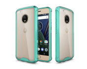Moto G5 Plus Case, ARSUE Ultra Thin and Slim Hard Crystal Clear Transparent Scratch Resistant Premium Hybrid Protective Cover for Motorola Moto G5 Plus (Not Fit Moto G5) - Mint