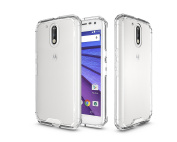 Moto G4 / G4 Plus Case, ARSUE Slim Crystal Clear Transparent Lightweight Scratch Resistant Premium Hybrid Protective Cover for Motorola Moto G4, Moto G4 Plus [NOT COMPATIBLE WITH MOTO G4 PLAY] - Clear