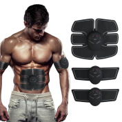 SHENGMI ABS Trainer Ab Belt ,Abdominal Muscles Toner,Body Fit Toning Belt,Fitness Training Gear Home/Office Ab Workout Equipment Machine for Men & Women