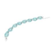 HANYI Rhinestone Stretch Silver Bracelet, Wedding, Prom, Party, Pageant Crystal Bracelet