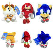 Sonic Boom Series Tomy Tails Knuckles 20cm - 28cm Plush Doll Stuffed Figure Toy 3+ USA Seller