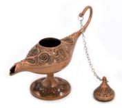 Homespun Red Bronze Metal Aladdin Magic Lamp 12 x 5 x 8 Cm Retro Wishing Oil Lamp Aladdin Genie Lamp Incense Burner Home Decor Gift Child Toy