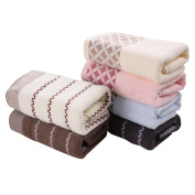 Cosway 6PCS Cotton Bath Towel Face Shower Towels Hand Towels Set Striped 70cm x 35cm