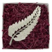 Fine Pewter New Zealand Fern Leaf Brooch, Handcast By William Sturt