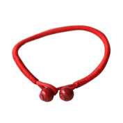 YOUBETTER Lucky Red Bracelets Bead String Ceramic Rope Chain