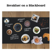 Rabbitgoo Blackboard Sticker Chalkboard Contact Paper Adhesive Chalk Board(Black) 45cm by 200cm with 5 Coloured Chalks for School/ Office/ Home