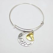 UNKE Family Jewellery Bracelet Family Members Sister/Dad/ Mom/Brother/Daughter Moon Love Bracelet Bangle Jewellery
