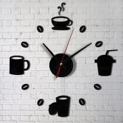 Lavany Acrylic DIY Self Adhesive Interior Wall Creative Decoration Clock,Wall Decal Art Stickers