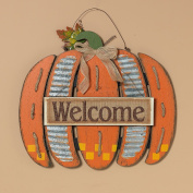 Rustic Wooden Harvest Pumpkin Hanging Welcome Sign - Fall Decoration