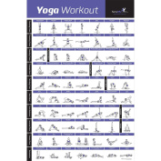 YOGA POSE EXERCISE POSTER LAMINATED – Premium Instructional Beginner's Chart for Sequences & Flow - 70 Essential Poses - Sanskrit & English Names - Easy, View It & Do It! - 50cm x 80cm