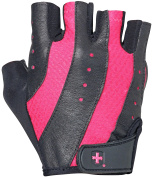 Harbinger Women's Pro Weightlifting Gloves with Vented Cushioned Leather Palm