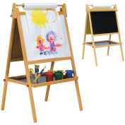 Childrens Easel - Chalkboard & Whiteboard with Paper Roll