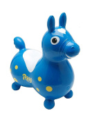 Gymnic / Rody Inflatable Hopping Horse, Blue, Made from soft, super strong, latex-free