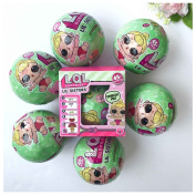 Rcool 6PC LOL L.O.L. Surprise Doll Outrageous Fun Series 2 Lil Sister Mystery Ball Toy - 5 Layers