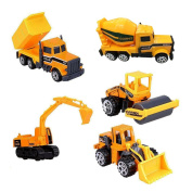 Alloy Construction Engineering Truck Models Mini Pocket Size Play Vehicles Cars Toy for Kids Toddlers Boys ,5Pcs Set